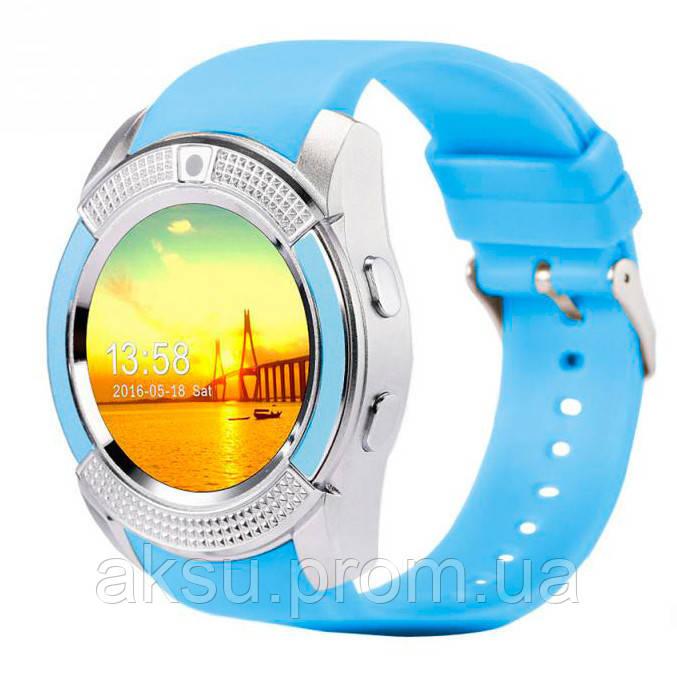Умные смарт-часы Smart Watch V8 Голубой цвет, Черный цвет