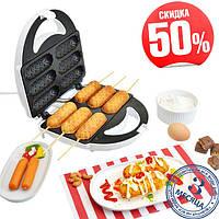 Аппарат для приготовления хот-догов и сосисок на палочке DOMOTEC тостер MS 0880 HOT DOG MAKER, фото 1