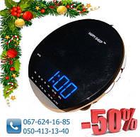 Сетевые Часы с Радиоприемником YJ 382, часы с FM радио, электронные часы с ФМ радио, сетевые часы, фото 1