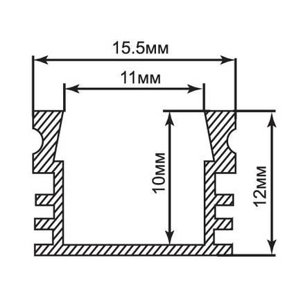 Алюминиевый профиль для светодиодной ленты накладной Feron CAB261 (2 метра), фото 2