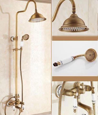 Душевая стойка со смесителем для ванны и верхней лейкой 0632