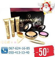 Набор Тональный крем Dermacol 6 в 1 Дармакол + пудра + румяна + щетоска для нанесения для всех типов кожи