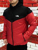 Курточка Ветровка мужская The North Face, весенняя/осенняя, цвет черно-красный