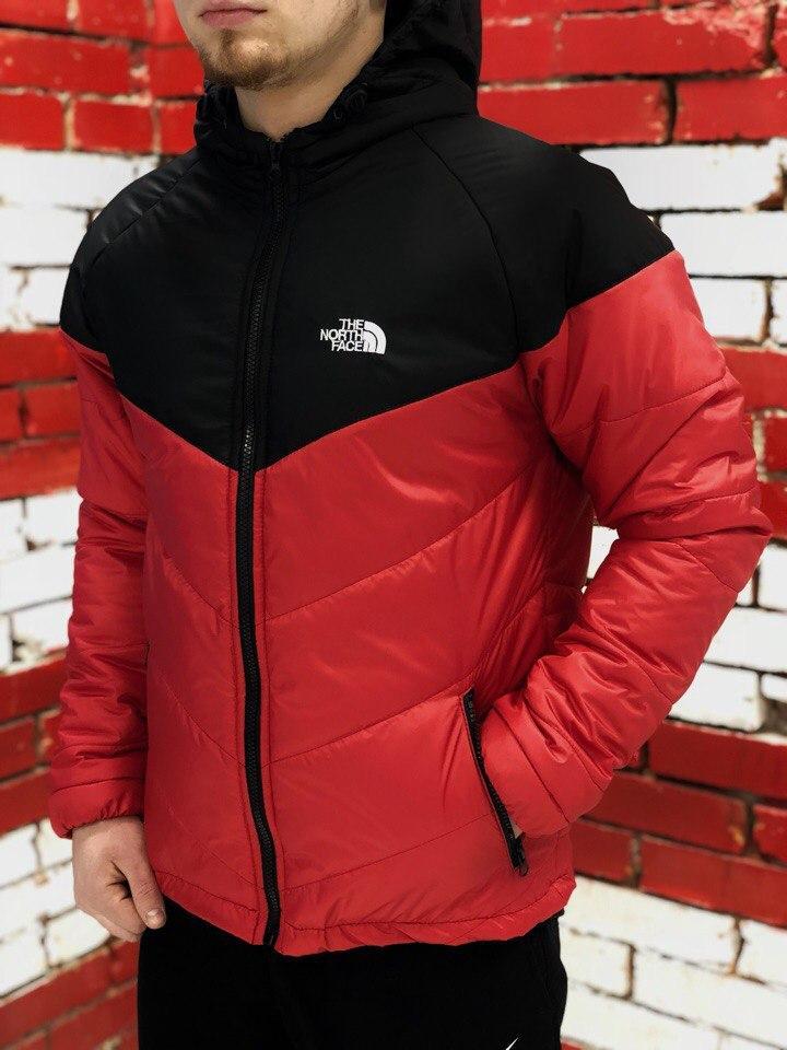 Курточка Ветровка мужская The North Face, весенняя/осенняя, цвет черно-красный, фото 1