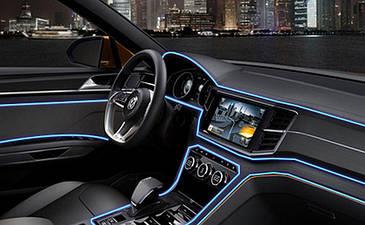 Холодный неон Ice-blue 5м + инвертор неон в автомобиль холодно синий цвет 5м + инверто