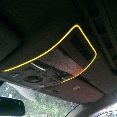 Холодный неон Yellow 5м + инвертор неон в автомобиль желтого цвет 5м + инвертор