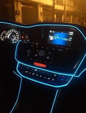 Холодный неон Blue 3м +  инвертор неон в автомобиль синего цвет 3м + инвертор