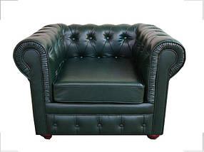 Кресло Куин Кожа Люкс Комбинированная Зеленая (Диал ТМ)