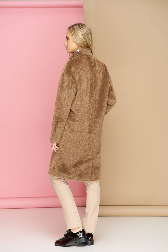 Пальто oversize шерстяное бежевое демисезонное, фото 2
