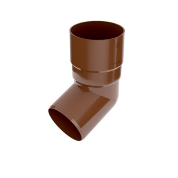 Коліно труби BRYZA 90мм, Коричневий RAL 8017