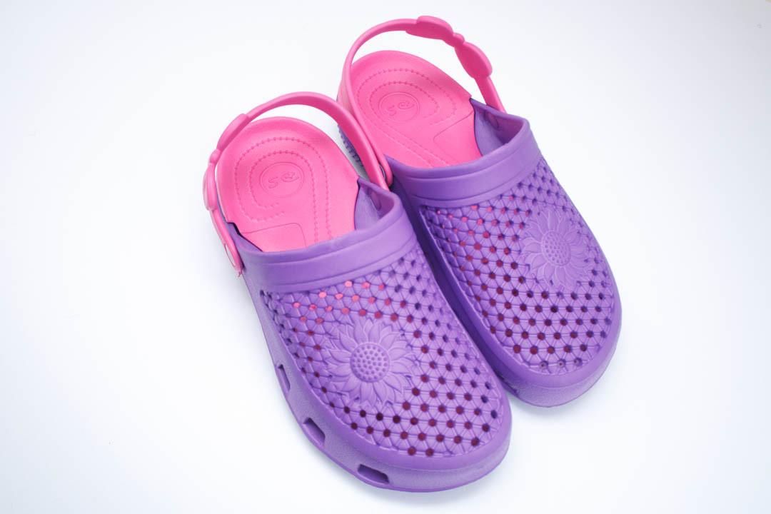 Женские сабо (Код: Сабо Crocs фиолет-малина )