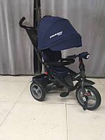 Трехколесный велосипед-коляска Azimut Crosser T-400 NEO ECO AIR синий