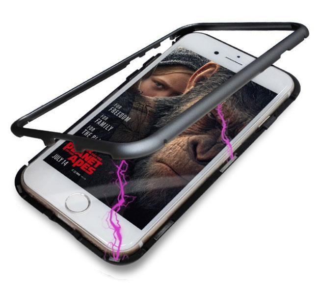Металлический магнитный чехол Primo для Apple iPhone 7 / iPhone 8 - Black