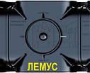 Комплект: пластиковий Лоток водовідвідний H72 з оцинкованої ґратами, фото 4