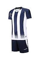 Футбольная форма Europaw 020 темно сине-белая