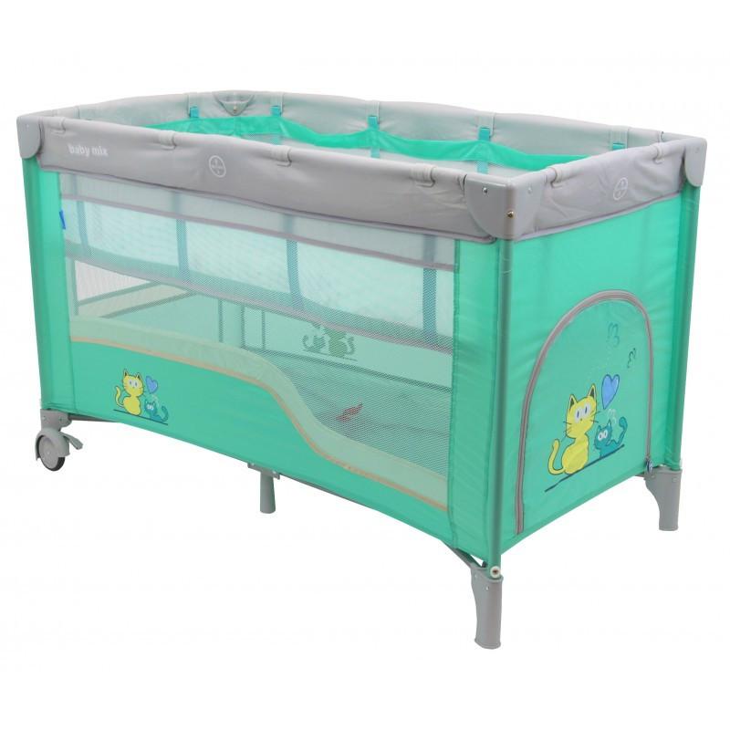 Дитячий універсальний манеж-ліжко Baby Mix HR-8052-2 Mint