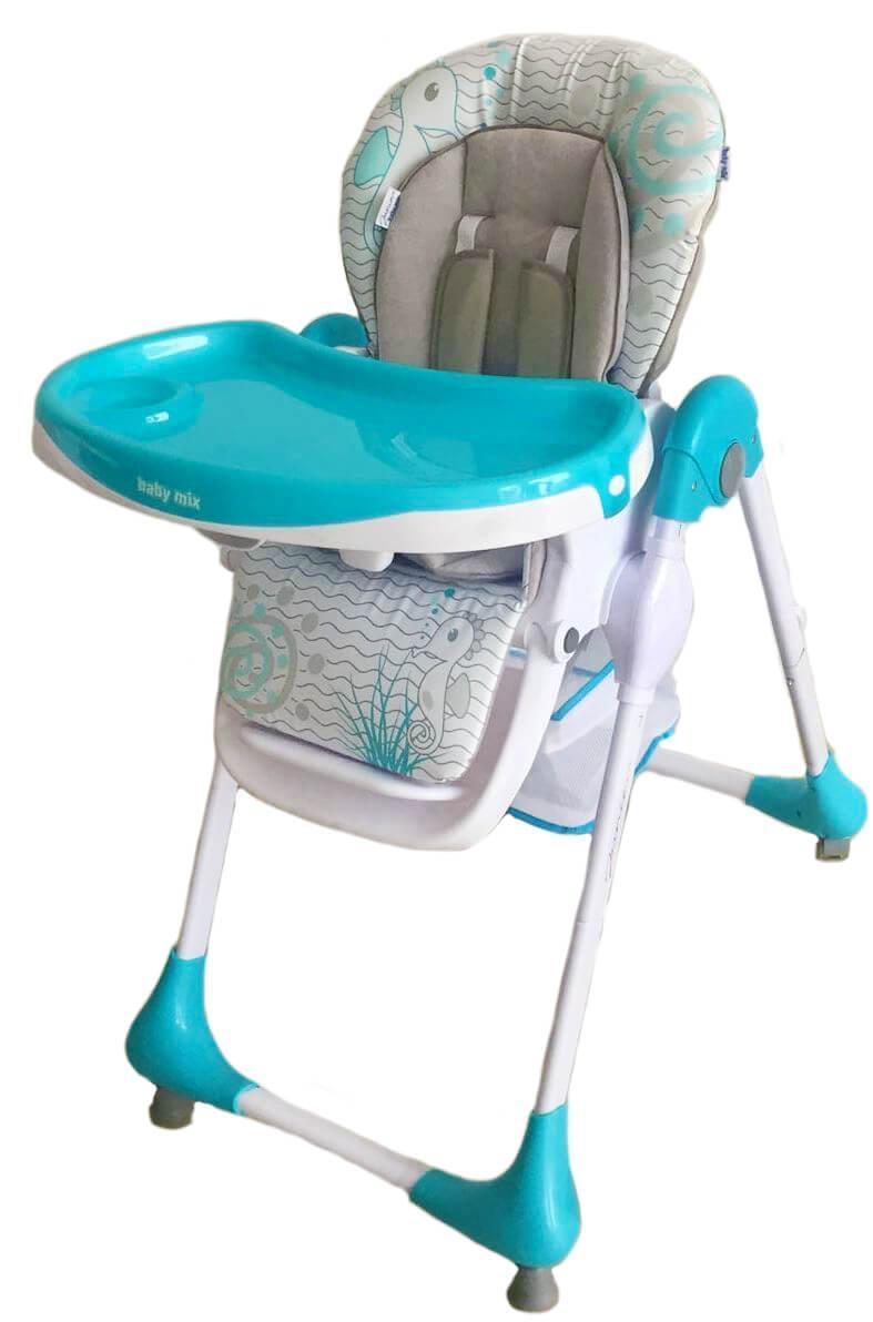 Детский универсальный стульчик для кормления Baby Mix Junior YQ188 - 3 Blue