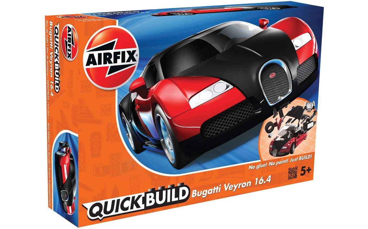 Bugatti Veyron 16.4. БЫСТРАЯ СБОРКА БЕЗ КЛЕЯ. AIRFIX J6020