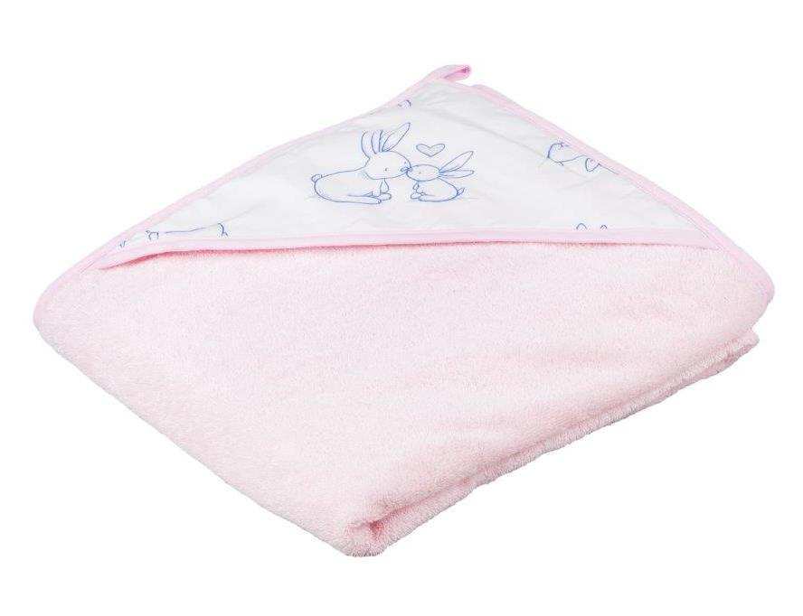 Детское мягкое махровое полотенце Tega Кролик 100x100 KR - 008 Pink