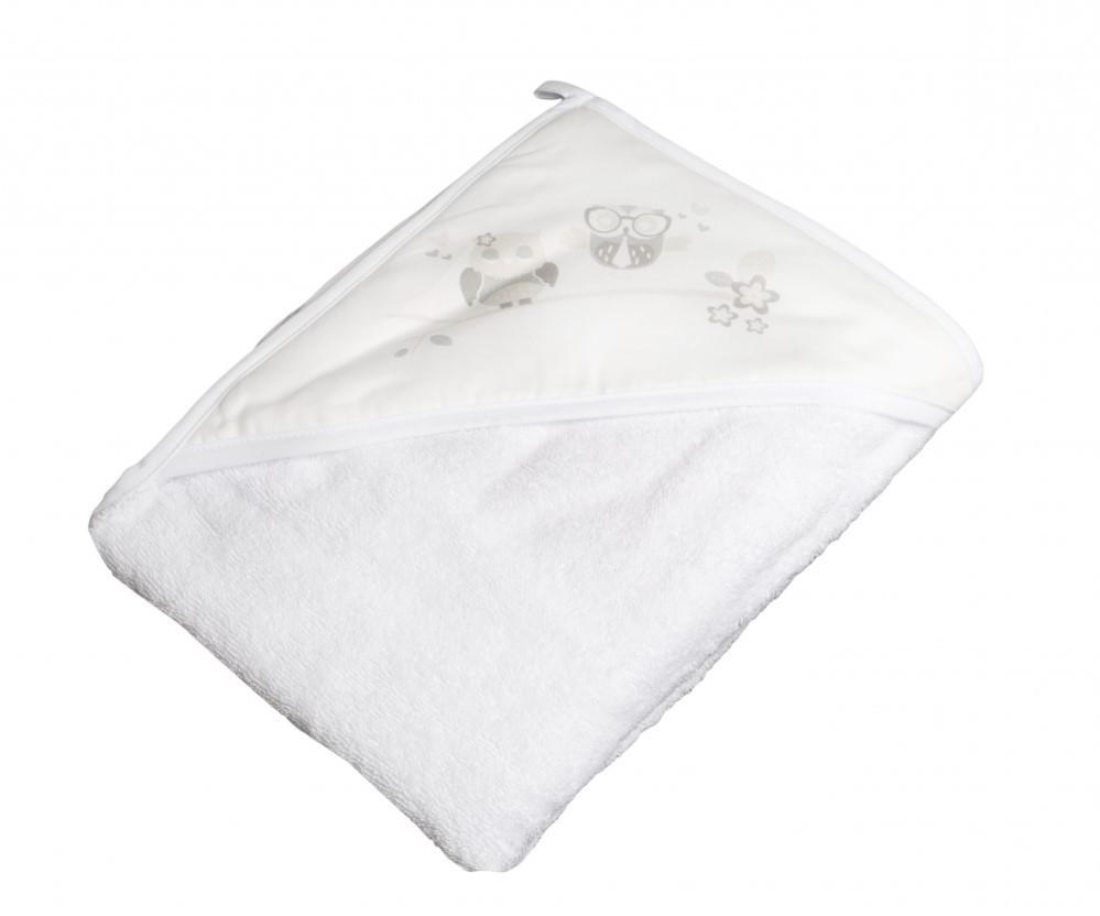 Детское мягкое махровое полотенце Tega Сова 100x100 SO - 007 White