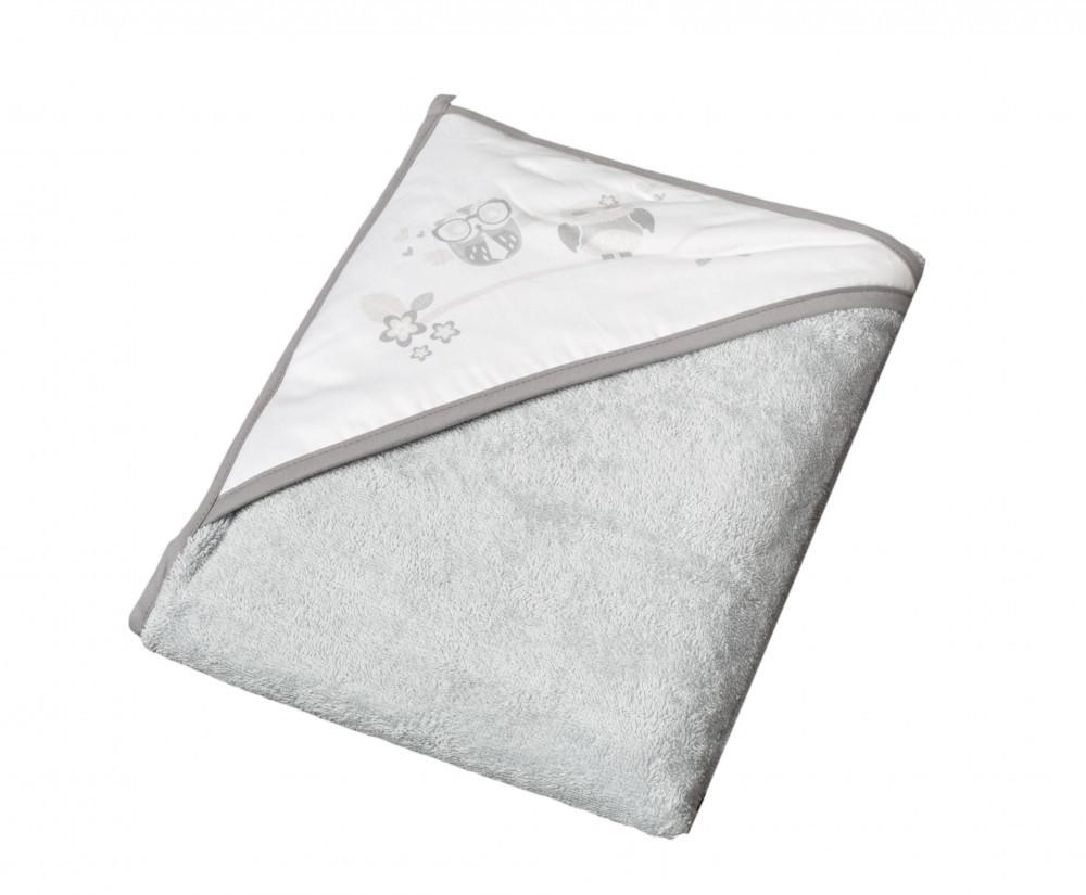 Детское мягкое махровое полотенце Tega Сова 100x100 SO - 007 Grey