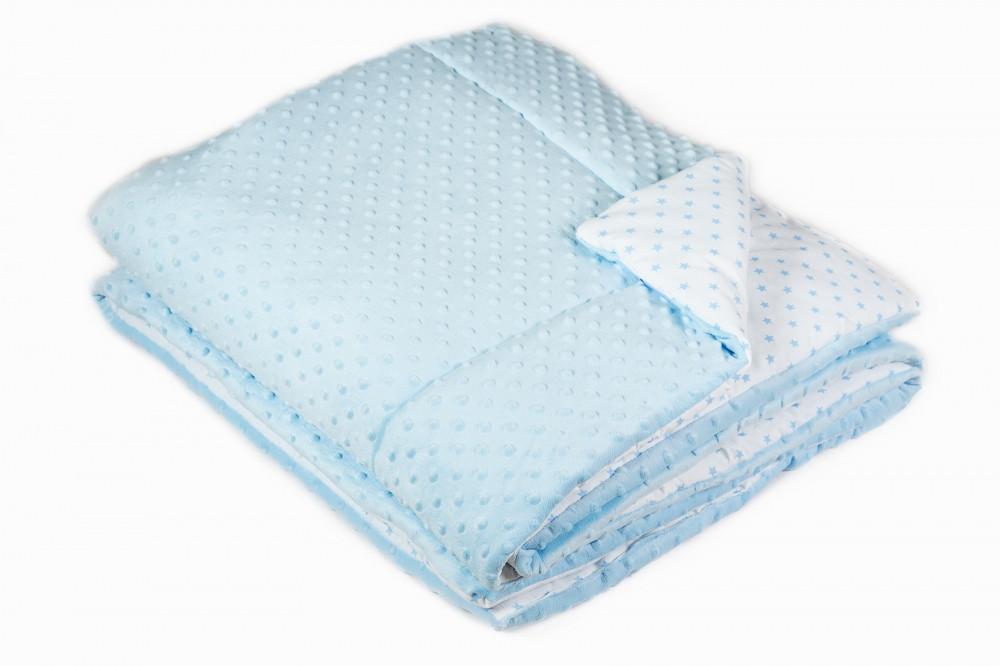 Одеяло в кроватку Twins MInky 115/155 Blue