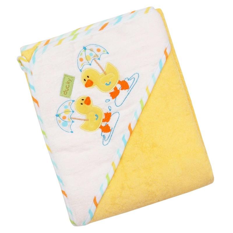 Детское мягкое махровое полотенце Baby Mix Z-CY-35 Duck yellow