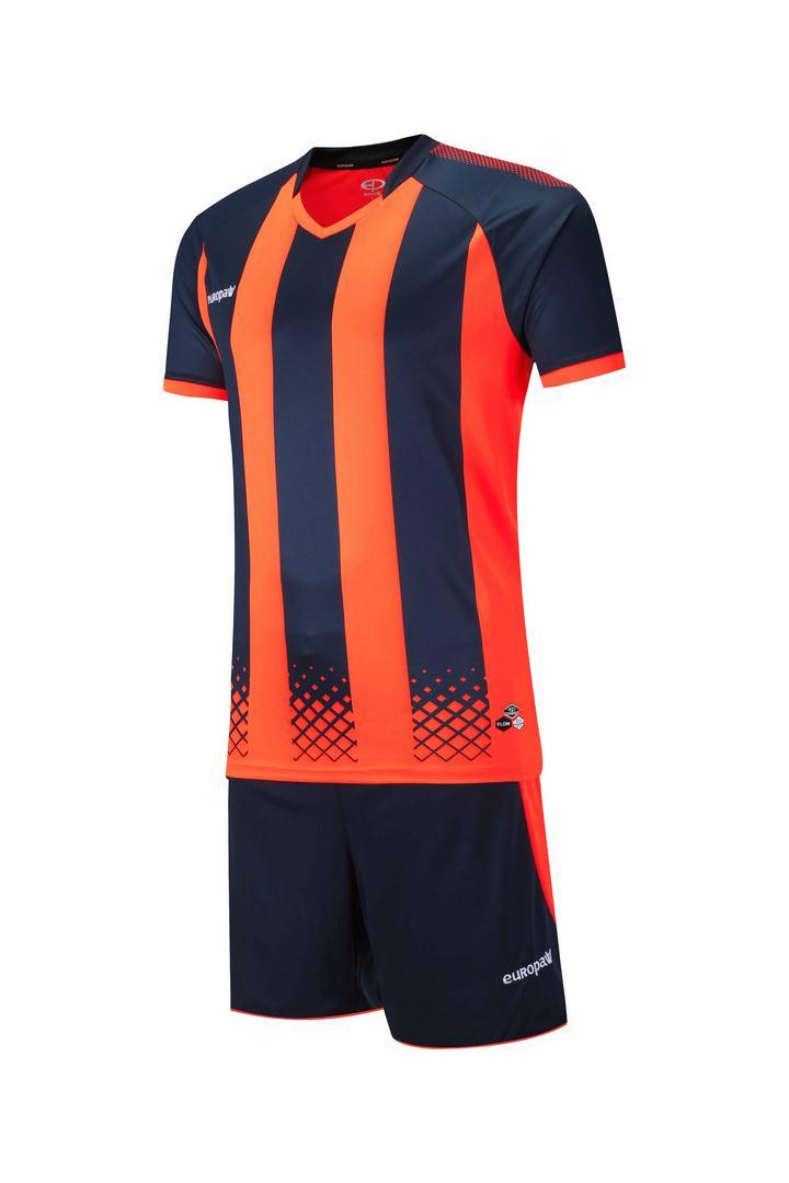 Футбольная форма Europaw 020 темно сине-оранжевая