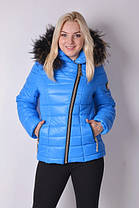 Куртка женская зимняя укороченная, фото 2