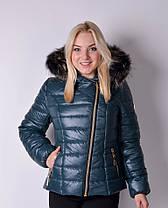 Куртка женская зимняя укороченная, фото 3