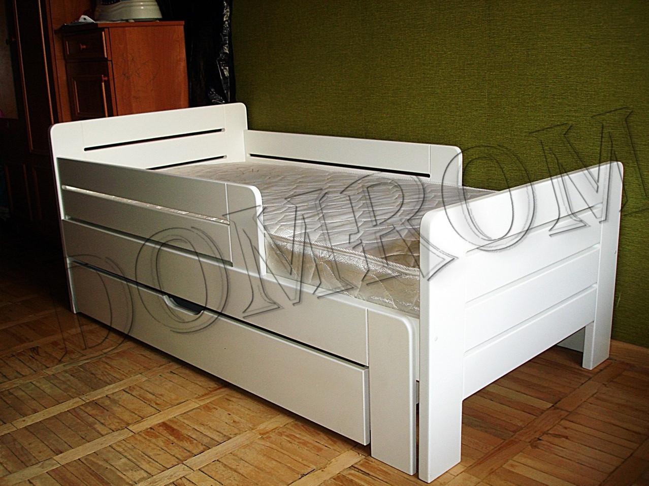 """Белая подростковая кровать """"Джек"""" односпальная из дерева в Одессе - фото 1"""