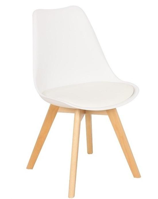 Пластиковый стул Тор белый от SDM Group, сиденье с подушкой