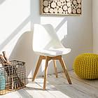 Пластиковый стул Тор белый от SDM Group, сиденье с подушкой, фото 5