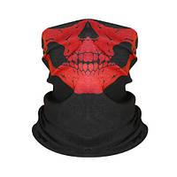 Бафф-маска с рисунком черепа  - красный , фото 1