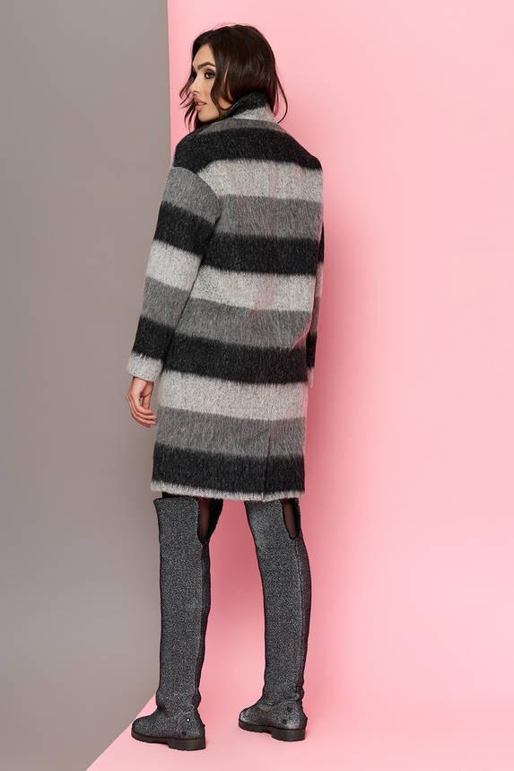 Пальто oversize женское шерстяное в полоску весеннее , фото 2