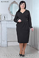 Платье большого размера ПЛ3-936 (р.52-56)