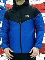 Курточка Ветровка мужская The North Face, весенняя/осенняя, цвет черно-синий