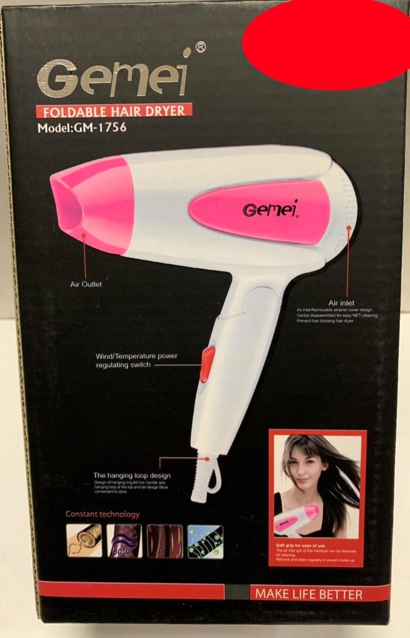 7041f9521b9 Фен для волос Мини Gemei GM-1756 - купить по лучшей цене в Киеве от ...