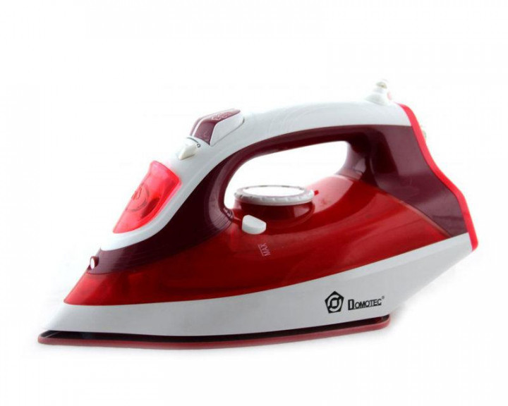 Керамический утюг Domotec MS-2298 красный с регулируемым потоком пара керамическая подошва Домотек ms 2298