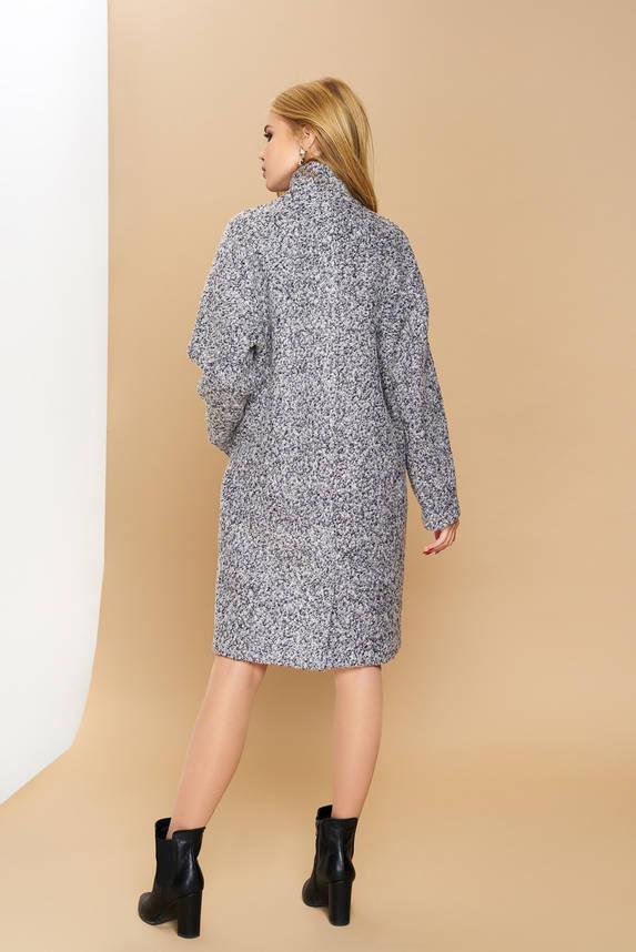 Женское демисезонное пальто оверсайз шерсть букле, фото 2