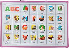 Доска магнитно-маркерная сухостираемая детская с английским алфавитом (25*35см), фото 3
