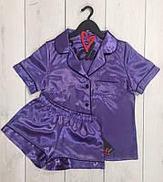 Одежда для дома ТМ Exclusive, атласная пижама рубашка и шорты 030.