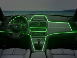 Холодный неон Light green 5м + инвертор неон в автомобиль зеленого цвет 5м + инвертор
