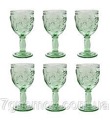 Набор 6 бокалов для вина из цветного бирюзового стекла Bailey Miracle 250 мл