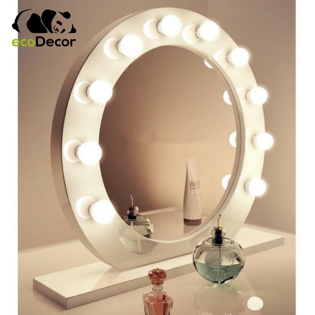 Зеркало настольное с лампочками для макияжа Sky