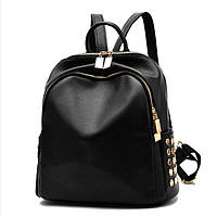 Рюкзак женский из экокожи (черный), фото 1