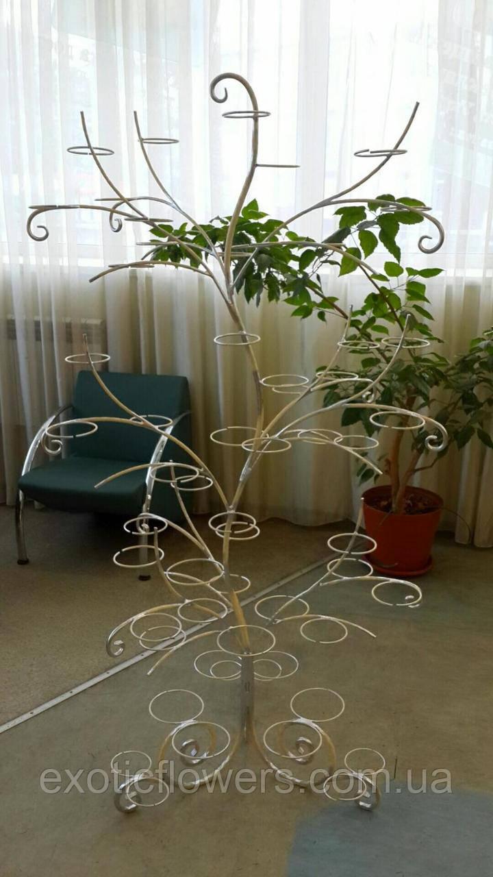 """Підставка для квітів на 55 кілець для орхідей """"Дерево-1"""""""