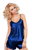 Шелковый комплект, пижама атлас: маечка на бретелях и шортики на резинке. Размеры, цвета разные., фото 1