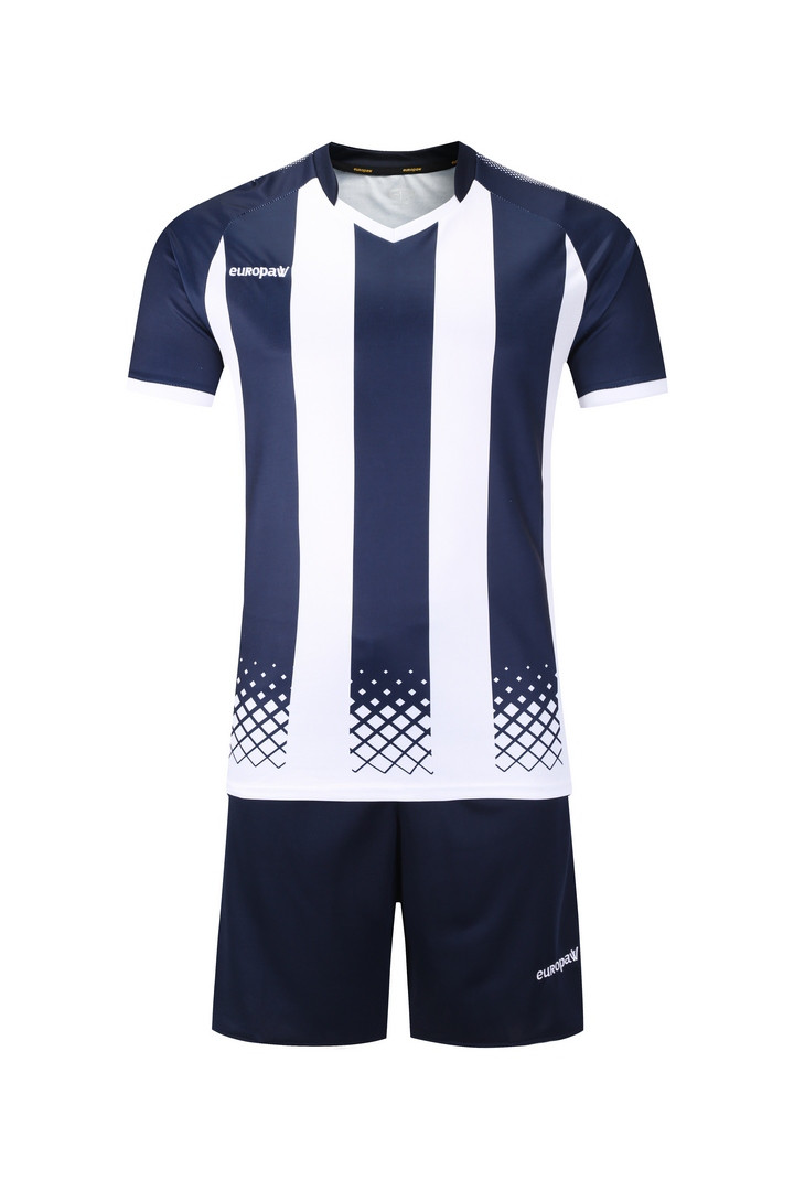 Футбольная форма Europaw (темно сине-белая) 020