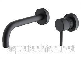 Змішувач чорний із стіни для умивальника Giulini Futuro 6520-20 NO